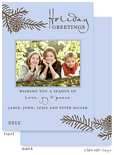 Take Note Designs - Fall/Thanksgiving Greeting Cards (Pinecone Branch on Blue Photo)