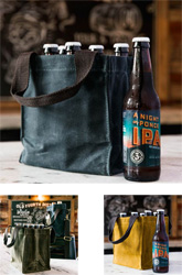 Waxed Canvas 6-Pack Holder by CB Station