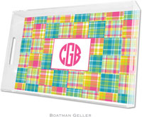 Boatman Geller Lucite Trays - Madras Patch Bright (Large - Panel)