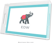 Boatman Geller Lucite Trays - Elephant (Large)
