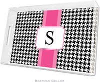 Boatman Geller Lucite Trays - Alex Houndstooth Black (Large)