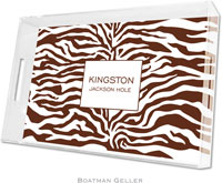 Boatman Geller Lucite Trays - Zebra Brown (Large - Panel)