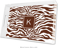 Boatman Geller Lucite Trays - Zebra Brown (Large - Pre-Set)