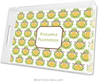 Boatman Geller Lucite Trays - Pineapple Repeat (Large - Panel)