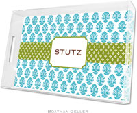 Boatman Geller Lucite Trays - Beti Teal (Large)