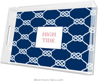 Boatman Geller Lucite Trays - Nautical Knot Navy (Large - Panel)