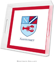 Boatman Geller Lucite Trays - Crest Lobster (Square)