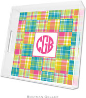 Boatman Geller Lucite Trays - Madras Patch Bright (Square - Panel)