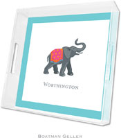 Boatman Geller Lucite Trays - Elephant (Square)