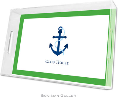 Boatman Geller - Create-Your-Own Personalized Lucite Trays (Icon with Border - Large)