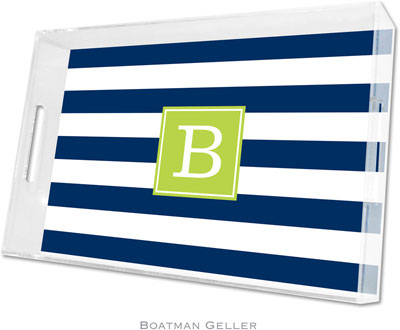 Boatman Geller - Create-Your-Own Personalized Lucite Trays (Awning Stripe - Large)