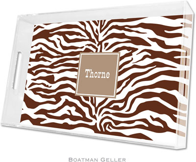 Boatman Geller - Create-Your-Own Personalized Lucite Trays (Zebra - Large)