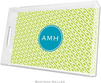 Boatman Geller - Create-Your-Own Personalized Lucite Trays (Chain Link - Large)