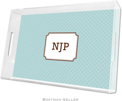 Boatman Geller - Create-Your-Own Personalized Lucite Trays (Basketweave - Large)