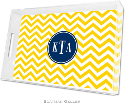 Boatman Geller - Create-Your-Own Personalized Lucite Trays (Chevron - Large)