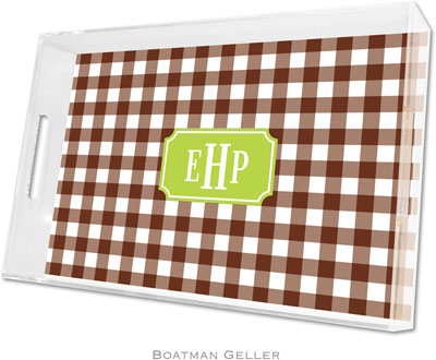 Boatman Geller - Create-Your-Own Personalized Lucite Trays (Classic Check - Large)