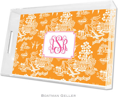 Boatman Geller - Create-Your-Own Personalized Lucite Trays (Chinoiserie - Large)
