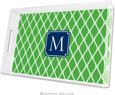 Boatman Geller - Create-Your-Own Personalized Lucite Trays (Bamboo - Large)