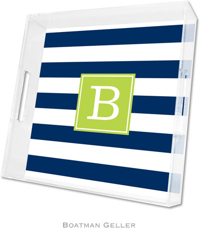 Boatman Geller - Create-Your-Own Personalized Lucite Trays (Awning Stripe - Square)