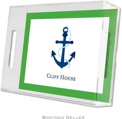 Boatman Geller - Create-Your-Own Personalized Lucite Trays (Icon with Border - Small)