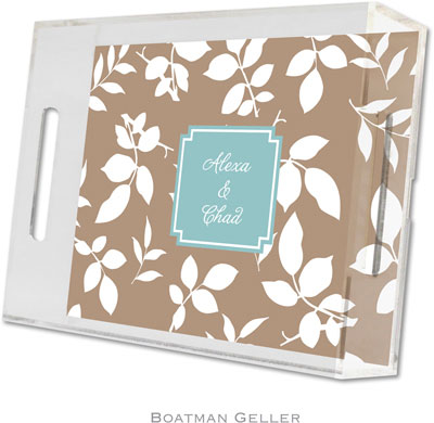 Boatman Geller - Create-Your-Own Personalized Lucite Trays (Silo Leaves - Small)