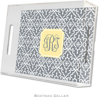 Boatman Geller - Create-Your-Own Personalized Lucite Trays (Wrought Iron - Small)