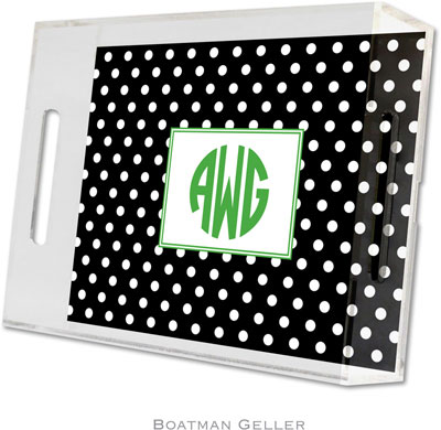 Boatman Geller - Create-Your-Own Personalized Lucite Trays (Polka Dot - Small)