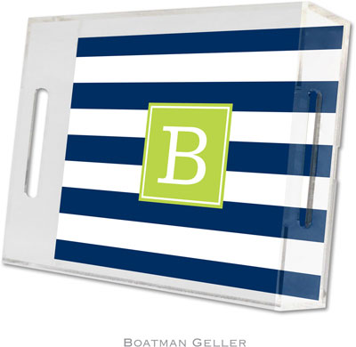 Boatman Geller - Create-Your-Own Personalized Lucite Trays (Awning Stripe - Small)