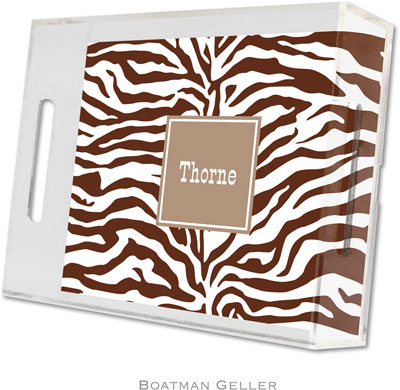 Boatman Geller - Create-Your-Own Personalized Lucite Trays (Zebra - Small)