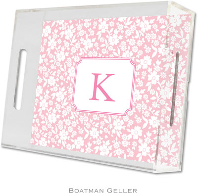 Boatman Geller - Create-Your-Own Personalized Lucite Trays (Petite Flower - Small)
