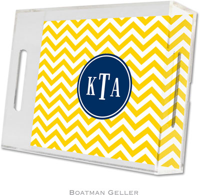 Boatman Geller - Create-Your-Own Personalized Lucite Trays (Chevron - Small)