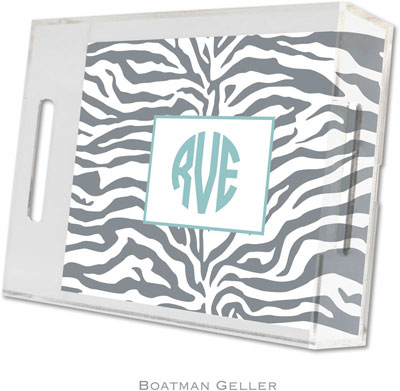 Boatman Geller - Create-Your-Own Personalized Lucite Trays (Zebra Gray - Small)