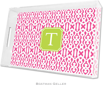Boatman Geller - Create-Your-Own Personalized Lucite Trays (Cameron Raspberry Preset - Large)