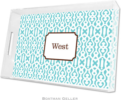Boatman Geller - Create-Your-Own Personalized Lucite Trays (Cameron Teal - Large)