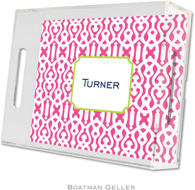 Boatman Geller - Create-Your-Own Personalized Lucite Trays (Cameron Raspberry - Small)