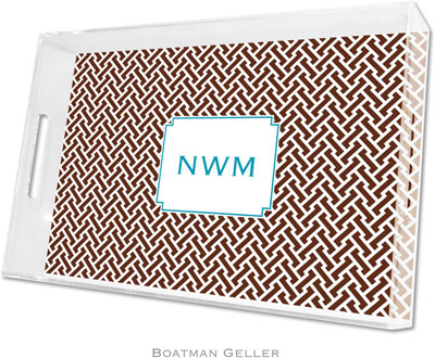Boatman Geller - Create-Your-Own Personalized Lucite Trays (Stella Chocolate - Large)