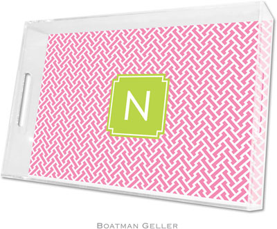 Boatman Geller - Create-Your-Own Personalized Lucite Trays (Stella Bubblegum Preset - Large)