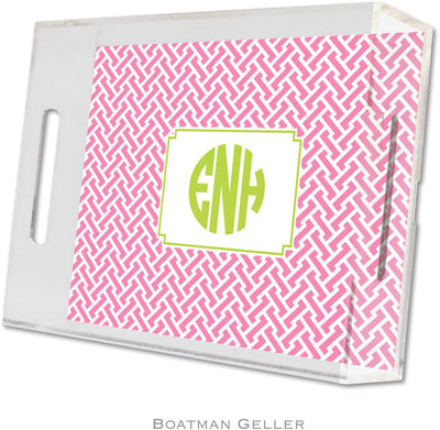 Boatman Geller - Create-Your-Own Personalized Lucite Trays (Stella Bubblegum - Small)