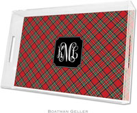 Boatman Geller Lucite Trays - Plaid Red (Large - Pre-Set)