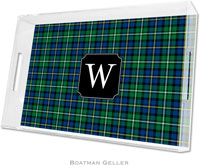 Boatman Geller Lucite Trays - Black Watch Plaid (Large - Pre-Set)