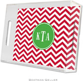 Boatman Geller Lucite Trays - Chevron Red (Small - Pre-Set)