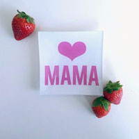 Heart Mama Mini Glass Tray
