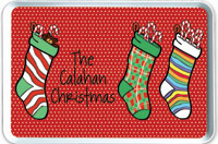 iDesign Melamine Serving Trays - Christmas Stockings