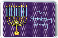 iDesign Melamine Serving Trays - Hanukkah Menorah