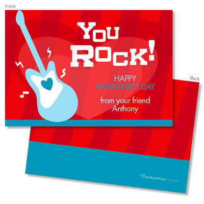 Spark Spark Valentine S Day Exchange Cards You Rock My World
