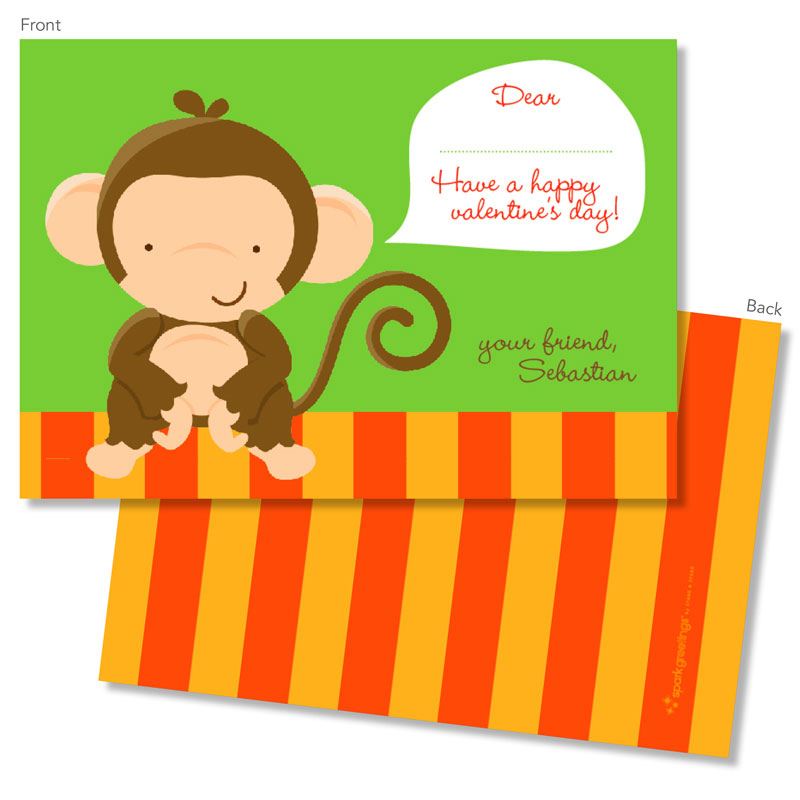 spark  spark valentine's day exchange cards  bananas