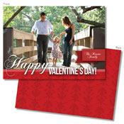 Spark & Spark Valentine's Day Cards (Red Damask - Photo)