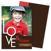 Spark & Spark Valentine's Day Cards (Love & Kisses - Photo)