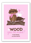 Stacy Claire Boyd - Children's Petite Valentine's Day Cards (Wood You Be Mine)