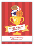 Stacy Claire Boyd - Children's Petite Valentine's Day Cards (You're A Champ)